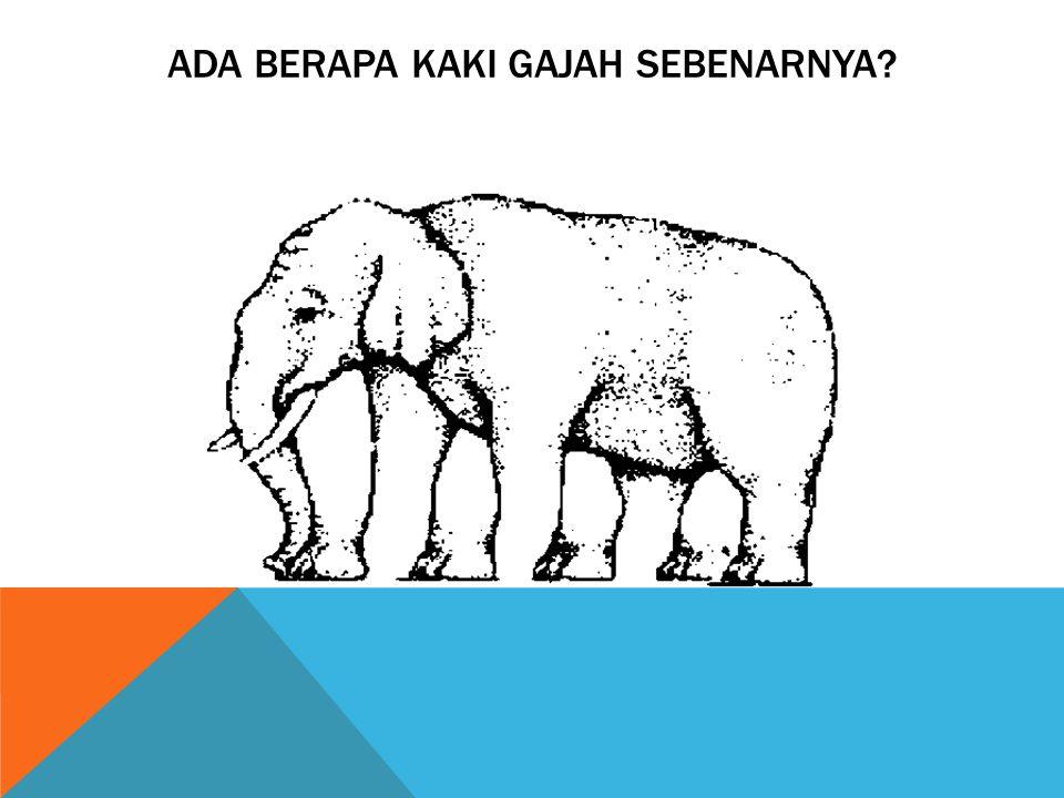 Ada Berapa Kaki Gajah sebenarnya