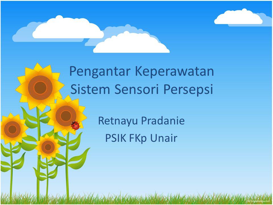 Pengantar Keperawatan Sistem Sensori Persepsi