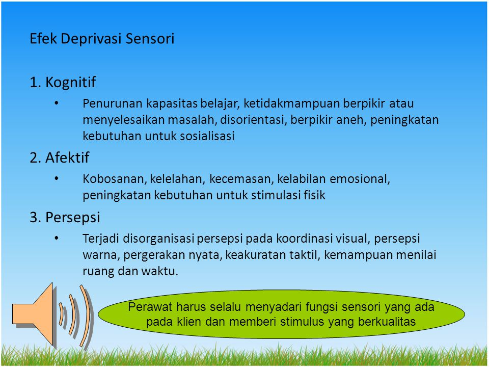 Efek Deprivasi Sensori