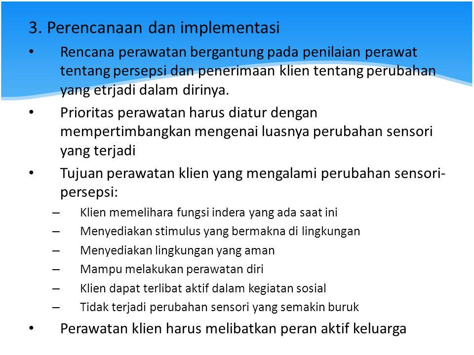 3. Perencanaan dan implementasi