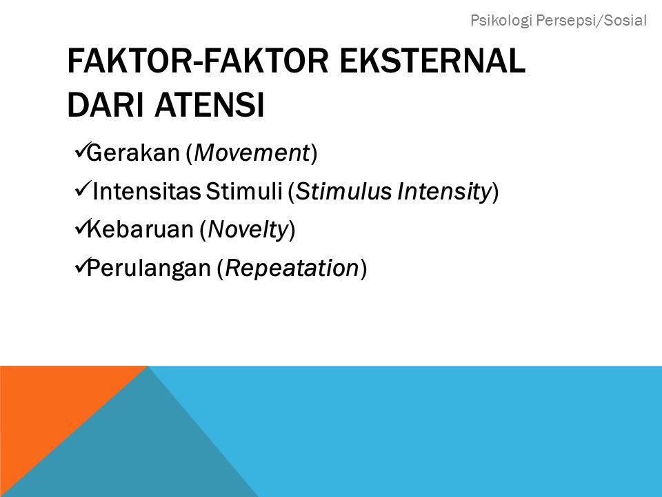 Faktor-faktor eksternal dari atensi