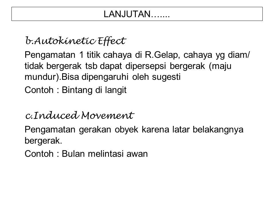LANJUTAN….... b.Autokinetic Effect.