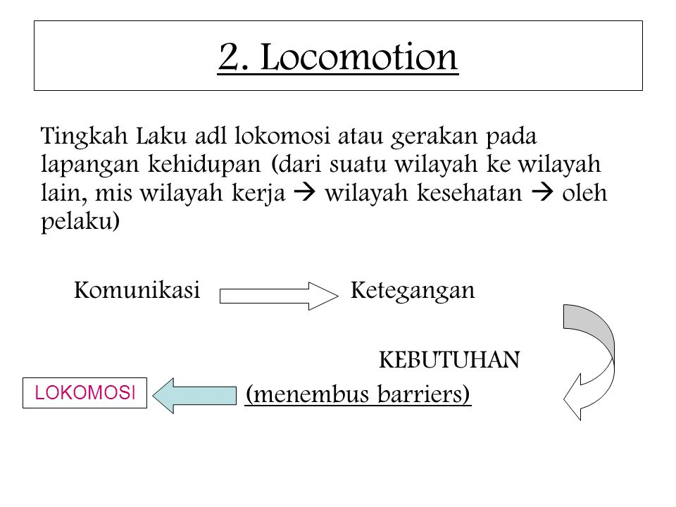 2. Locomotion