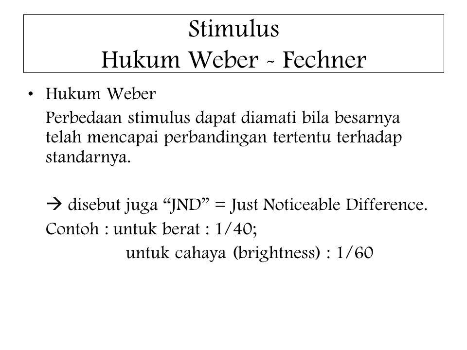 Stimulus Hukum Weber - Fechner