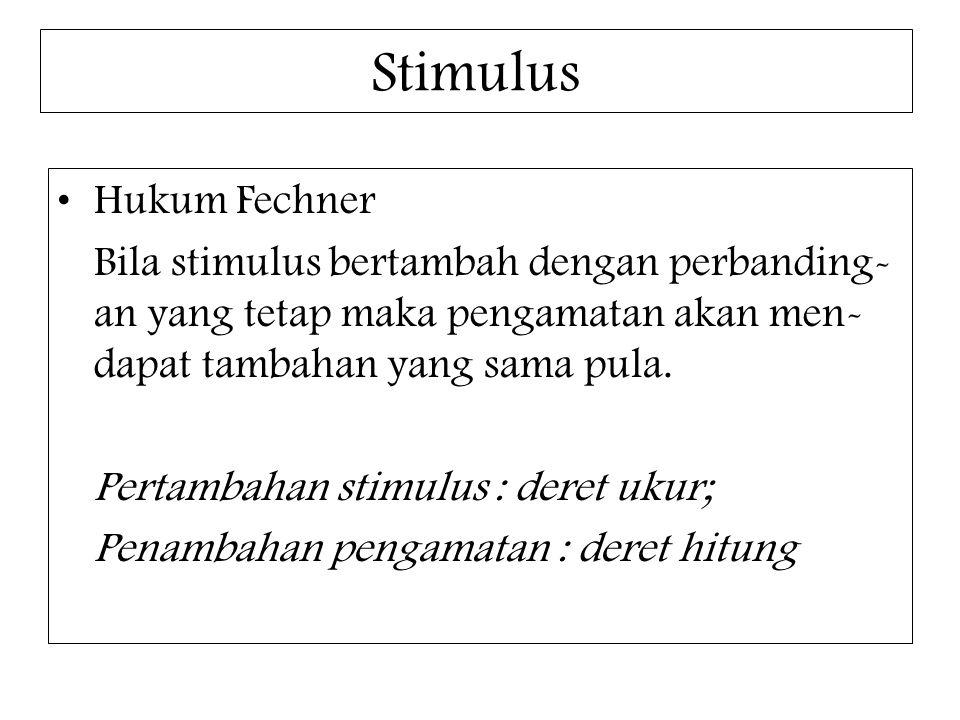Stimulus Hukum Fechner