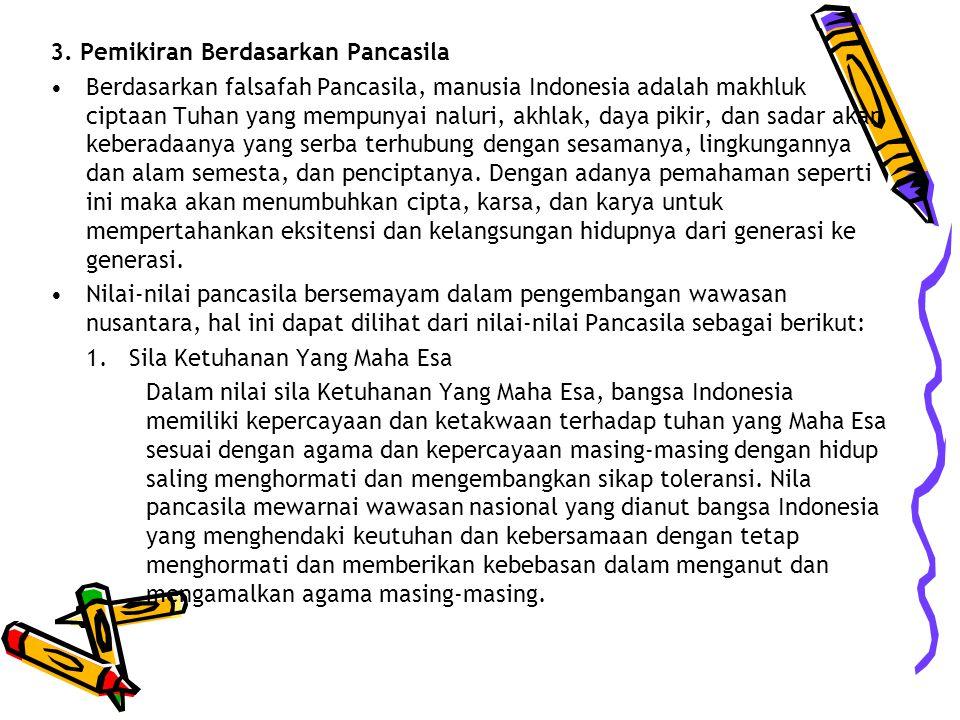 3. Pemikiran Berdasarkan Pancasila