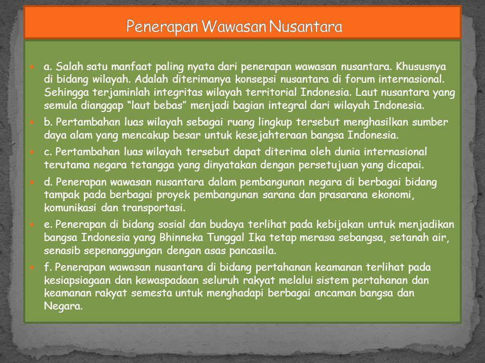 Penerapan Wawasan Nusantara