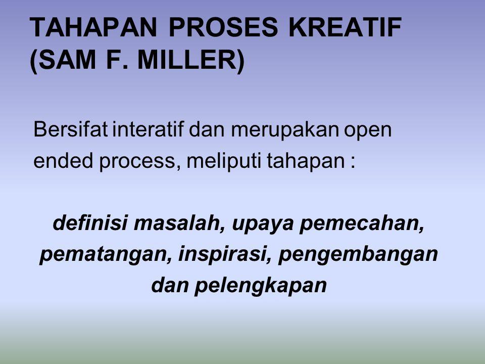 TAHAPAN PROSES KREATIF (SAM F. MILLER)