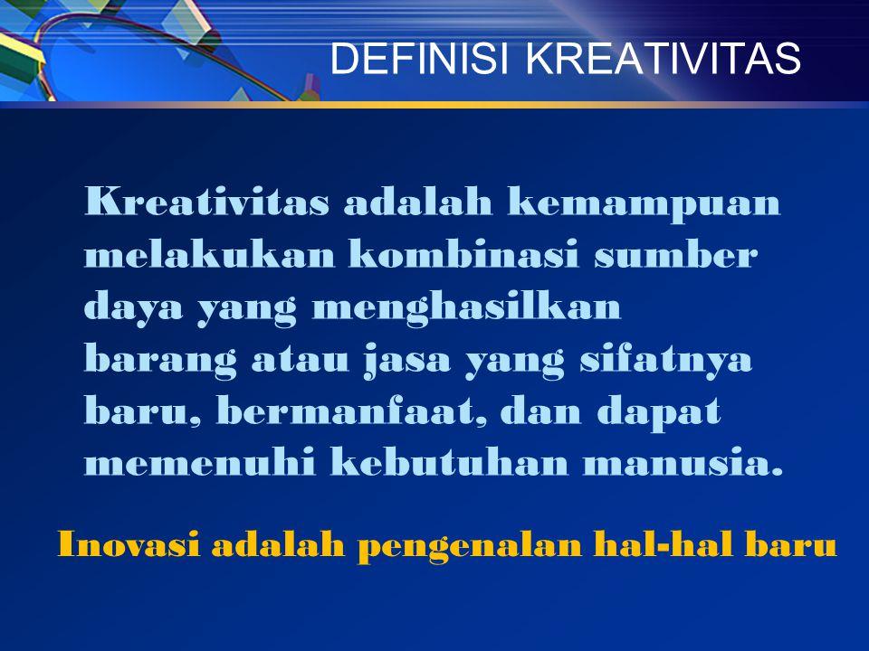 Kreativitas adalah kemampuan