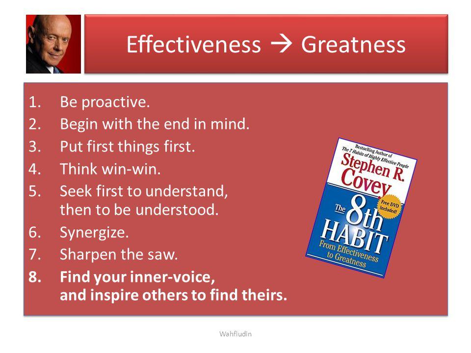 Effectiveness  Greatness
