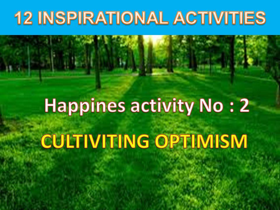 12 INSPIRATIONAL ACTIVITIES