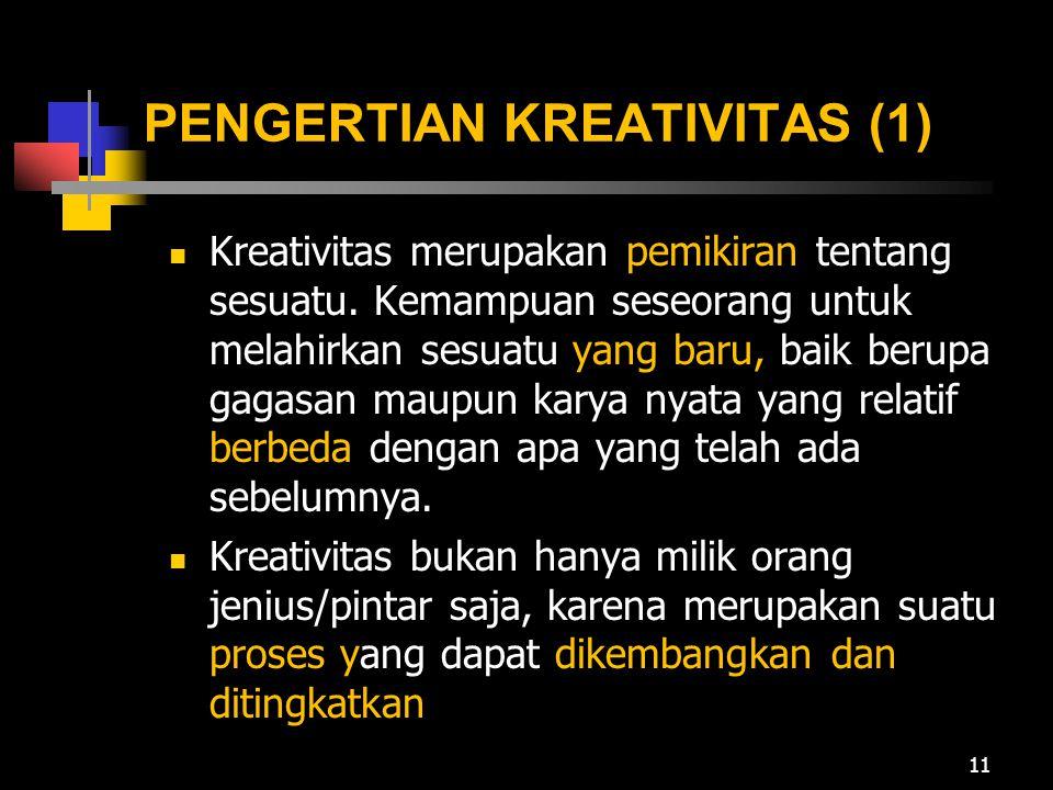 PENGERTIAN KREATIVITAS (1)