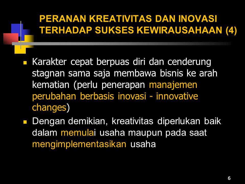 PERANAN KREATIVITAS DAN INOVASI TERHADAP SUKSES KEWIRAUSAHAAN (4)