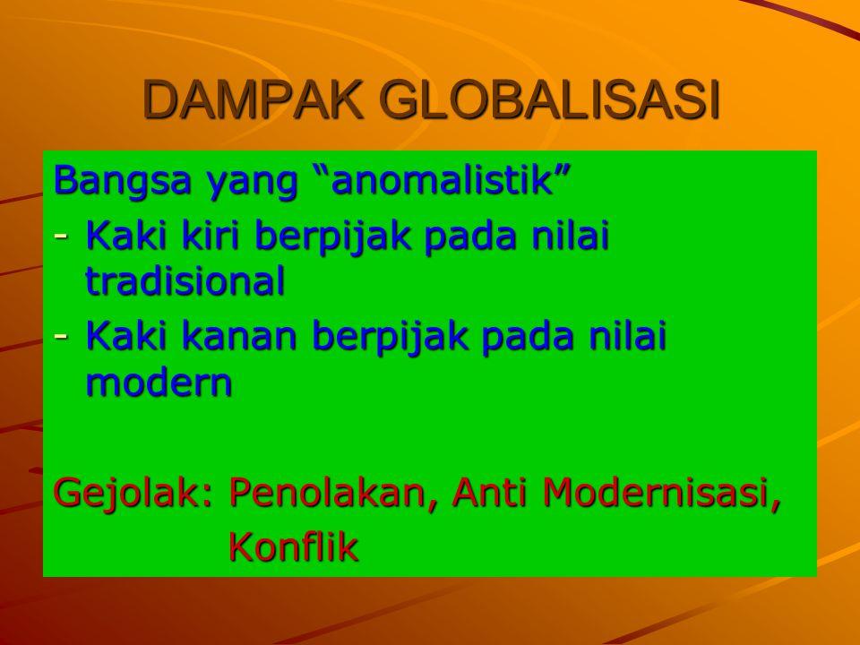 DAMPAK GLOBALISASI Bangsa yang anomalistik