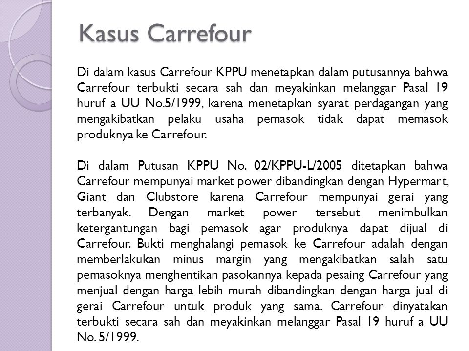 Kasus Carrefour