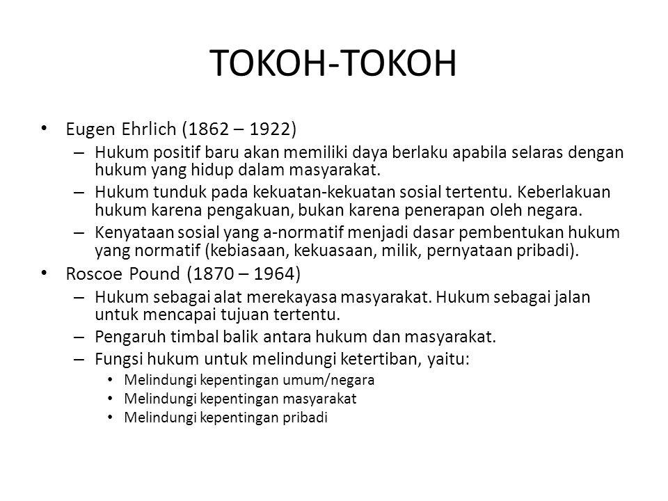 TOKOH-TOKOH Eugen Ehrlich (1862 – 1922) Roscoe Pound (1870 – 1964)