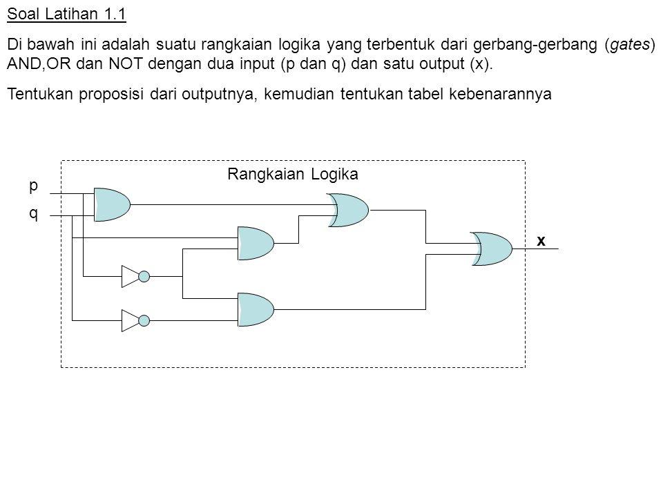 Soal Latihan 1.1