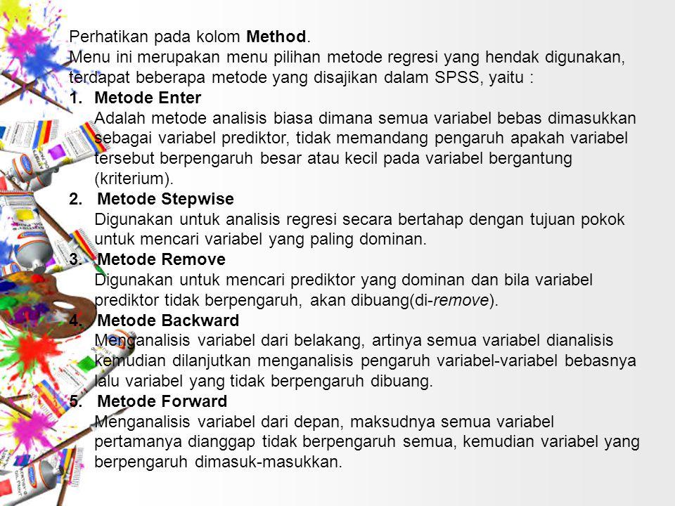 Perhatikan pada kolom Method.