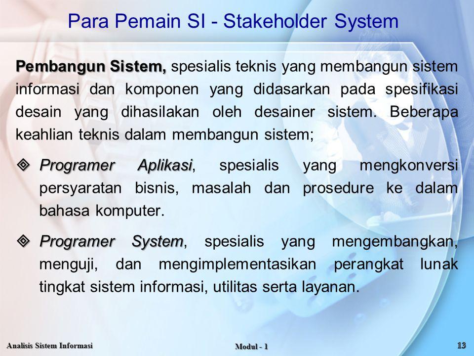 Para Pemain SI - Stakeholder System