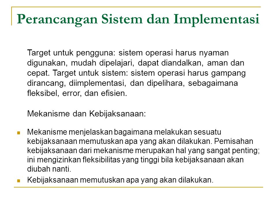 Perancangan Sistem dan Implementasi