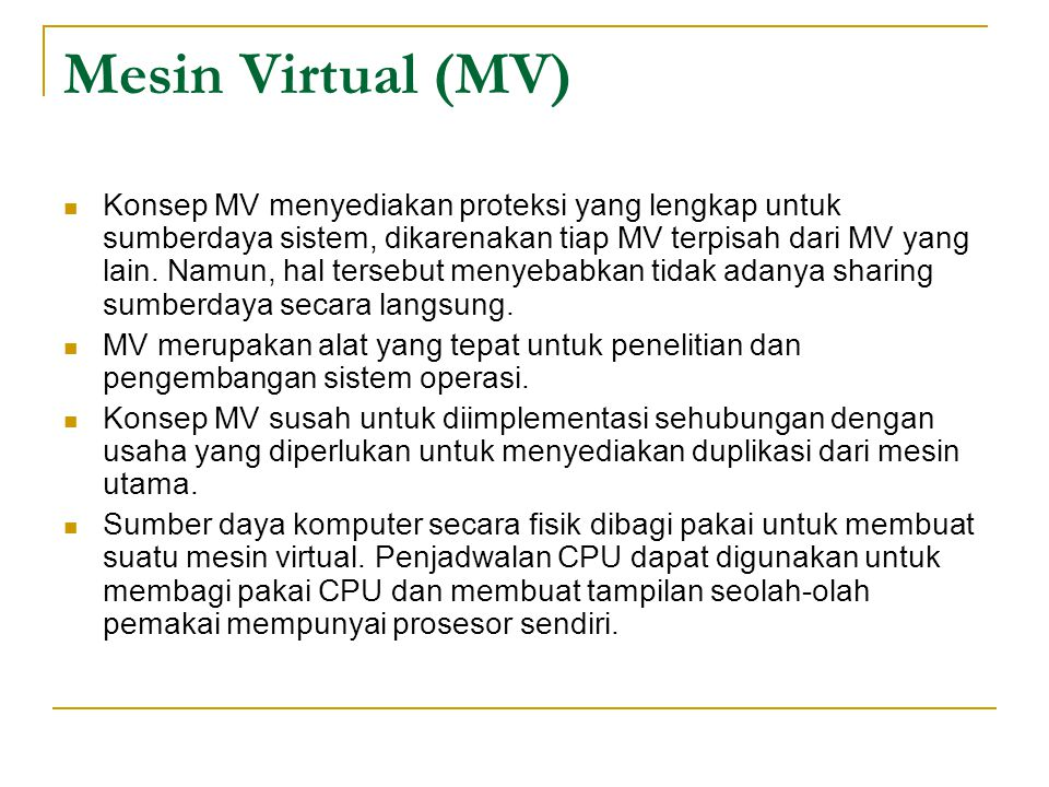 Mesin Virtual (MV)