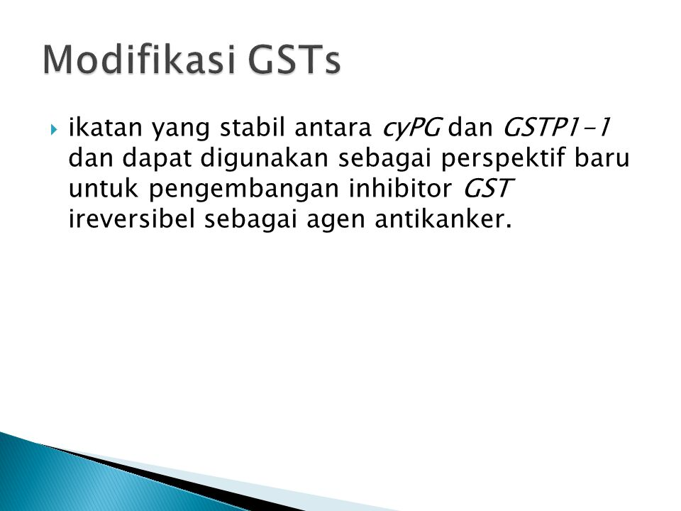 Modifikasi GSTs