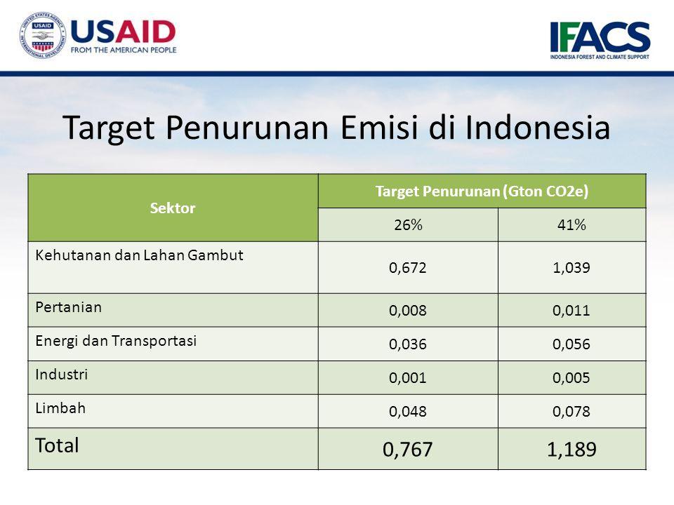 Target Penurunan Emisi di Indonesia