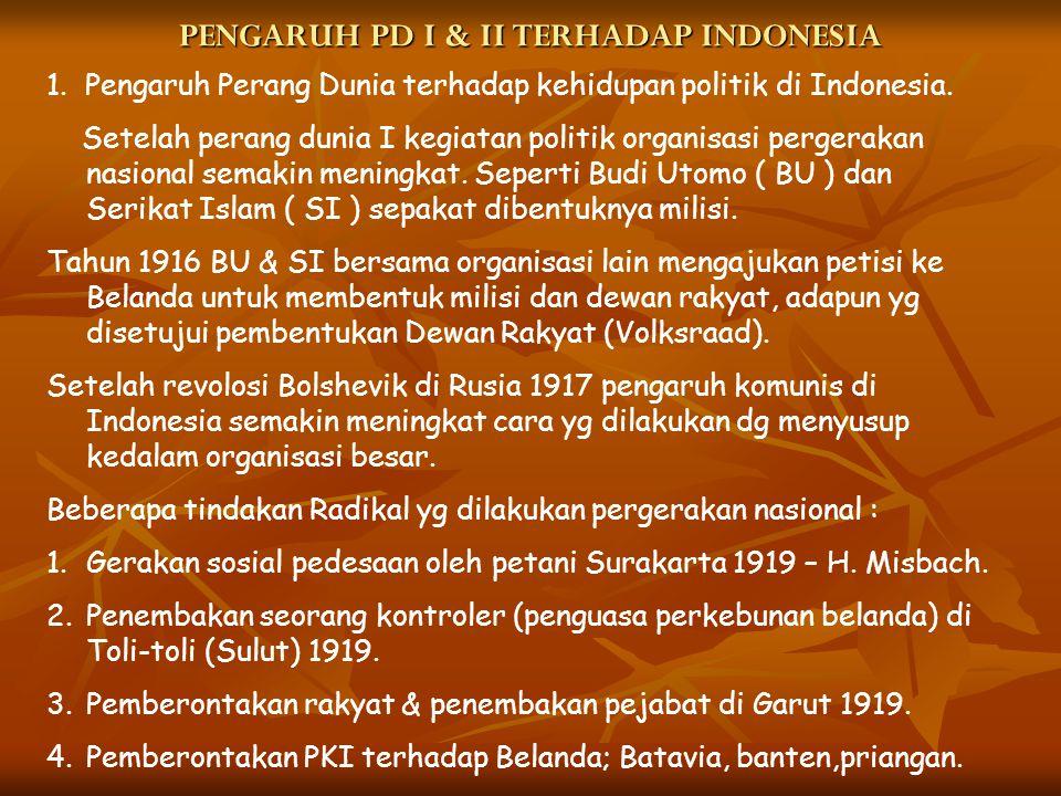 PENGARUH PD I & II TERHADAP INDONESIA