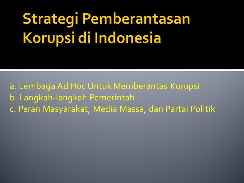 Strategi Pemberantasan Korupsi di Indonesia