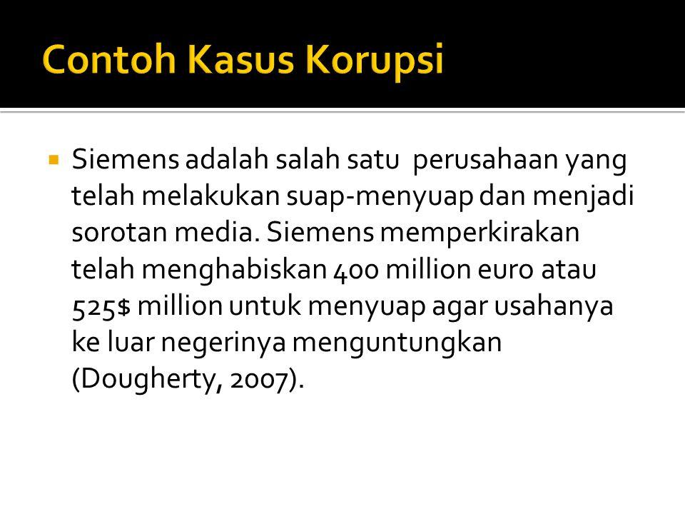 Contoh Kasus Korupsi
