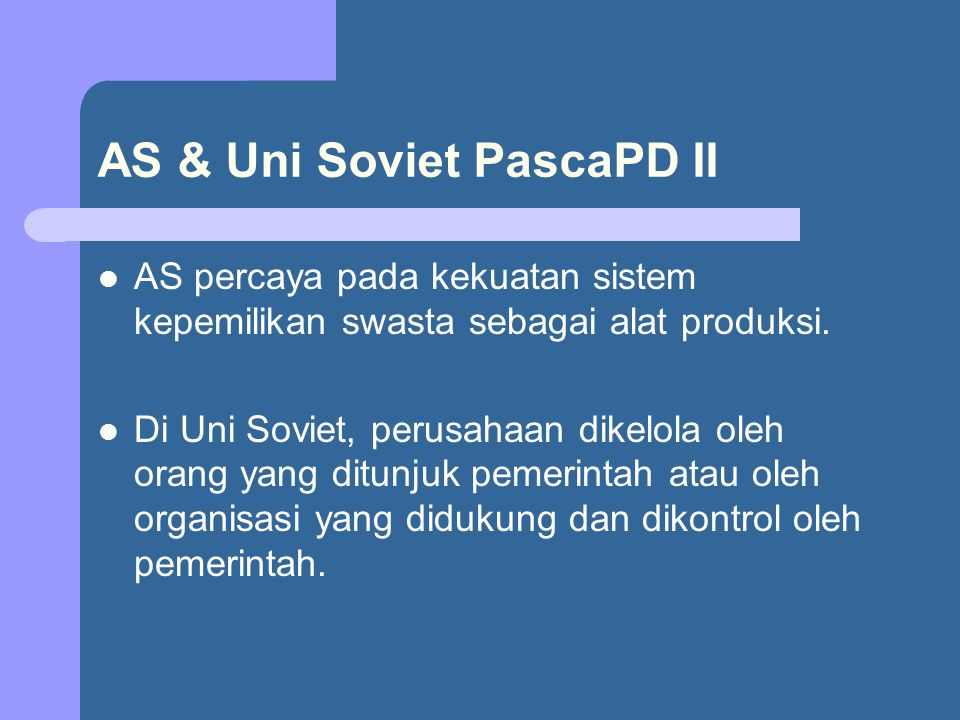 AS & Uni Soviet PascaPD II