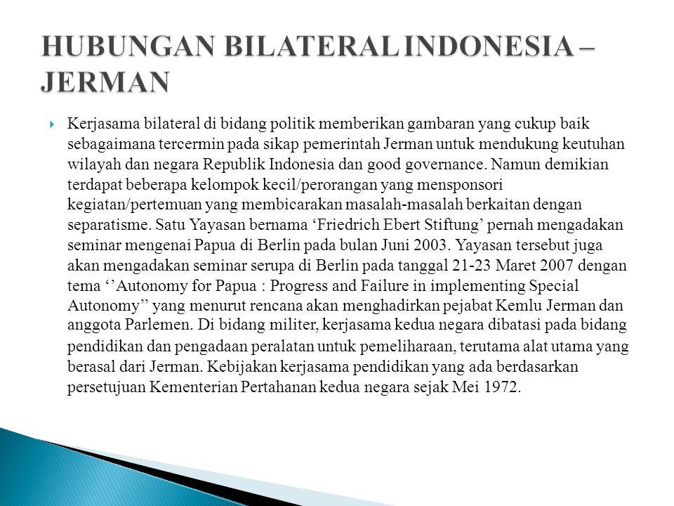 HUBUNGAN BILATERAL INDONESIA – JERMAN