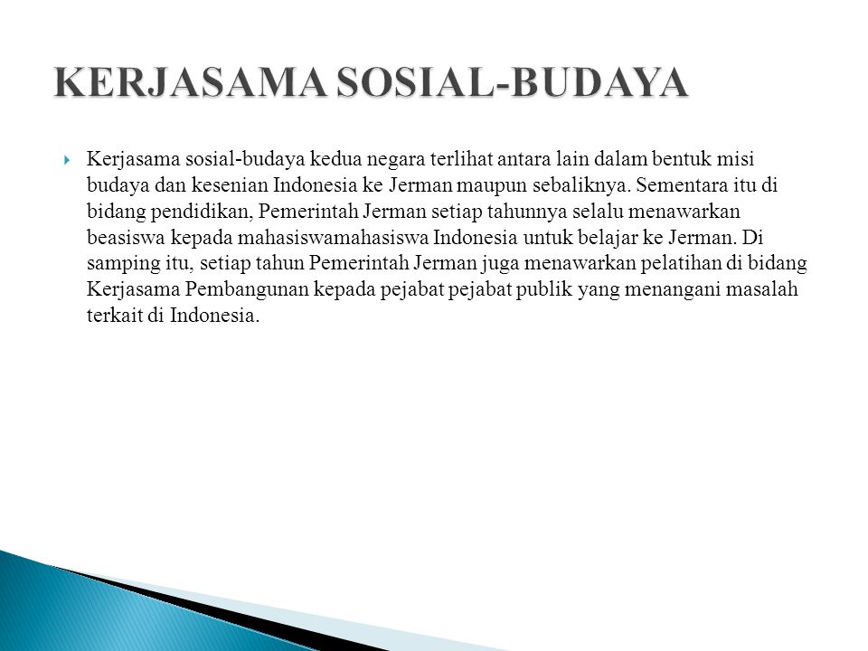 KERJASAMA SOSIAL-BUDAYA