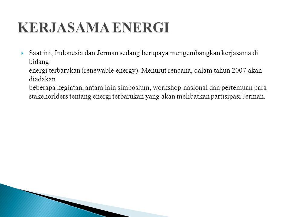 KERJASAMA ENERGI