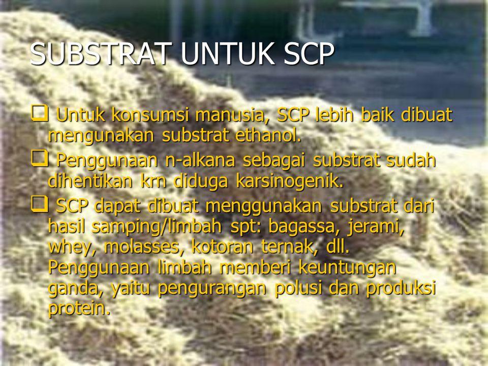SUBSTRAT UNTUK SCP Untuk konsumsi manusia, SCP lebih baik dibuat mengunakan substrat ethanol.