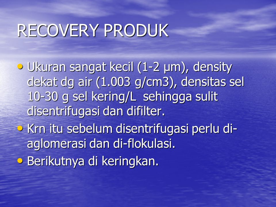 RECOVERY PRODUK