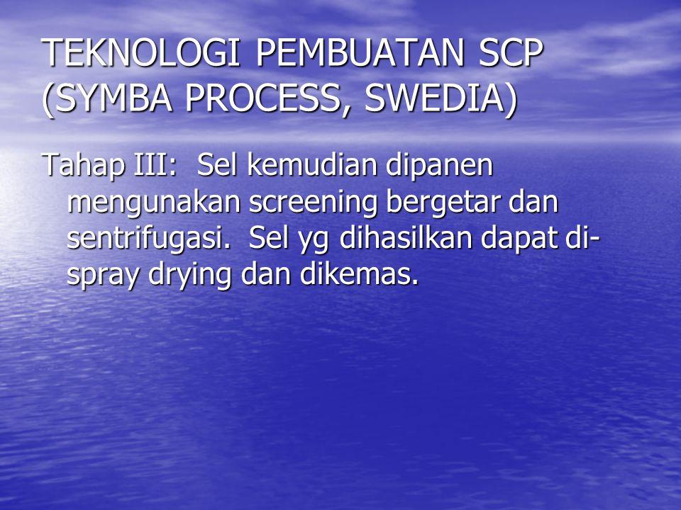 TEKNOLOGI PEMBUATAN SCP (SYMBA PROCESS, SWEDIA)