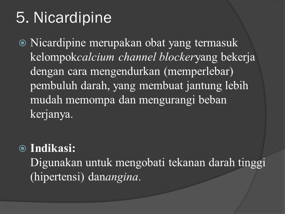 5. Nicardipine
