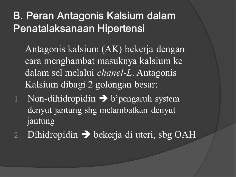 B. Peran Antagonis Kalsium dalam Penatalaksanaan Hipertensi