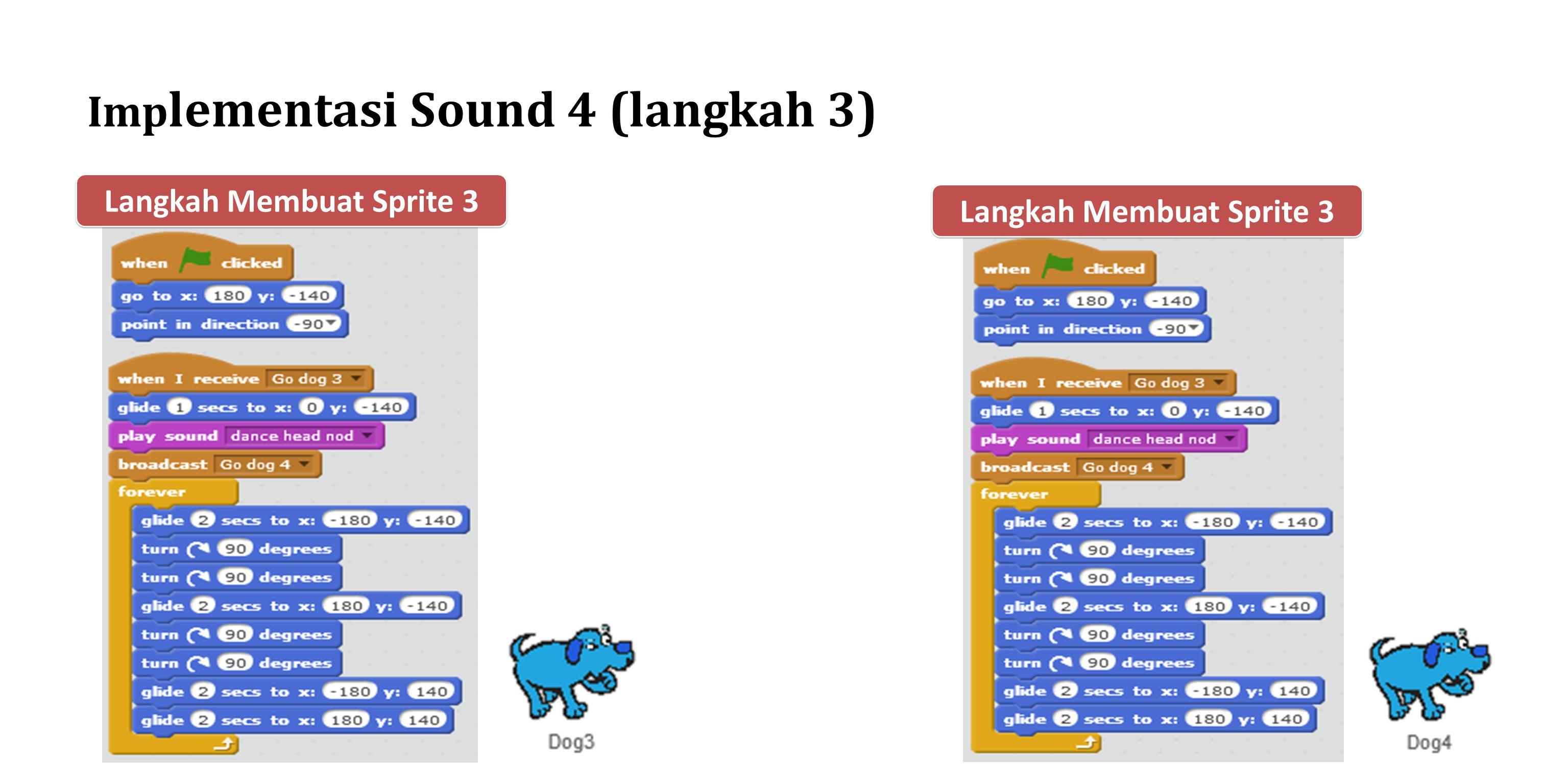 Implementasi Sound 4 (langkah 3)