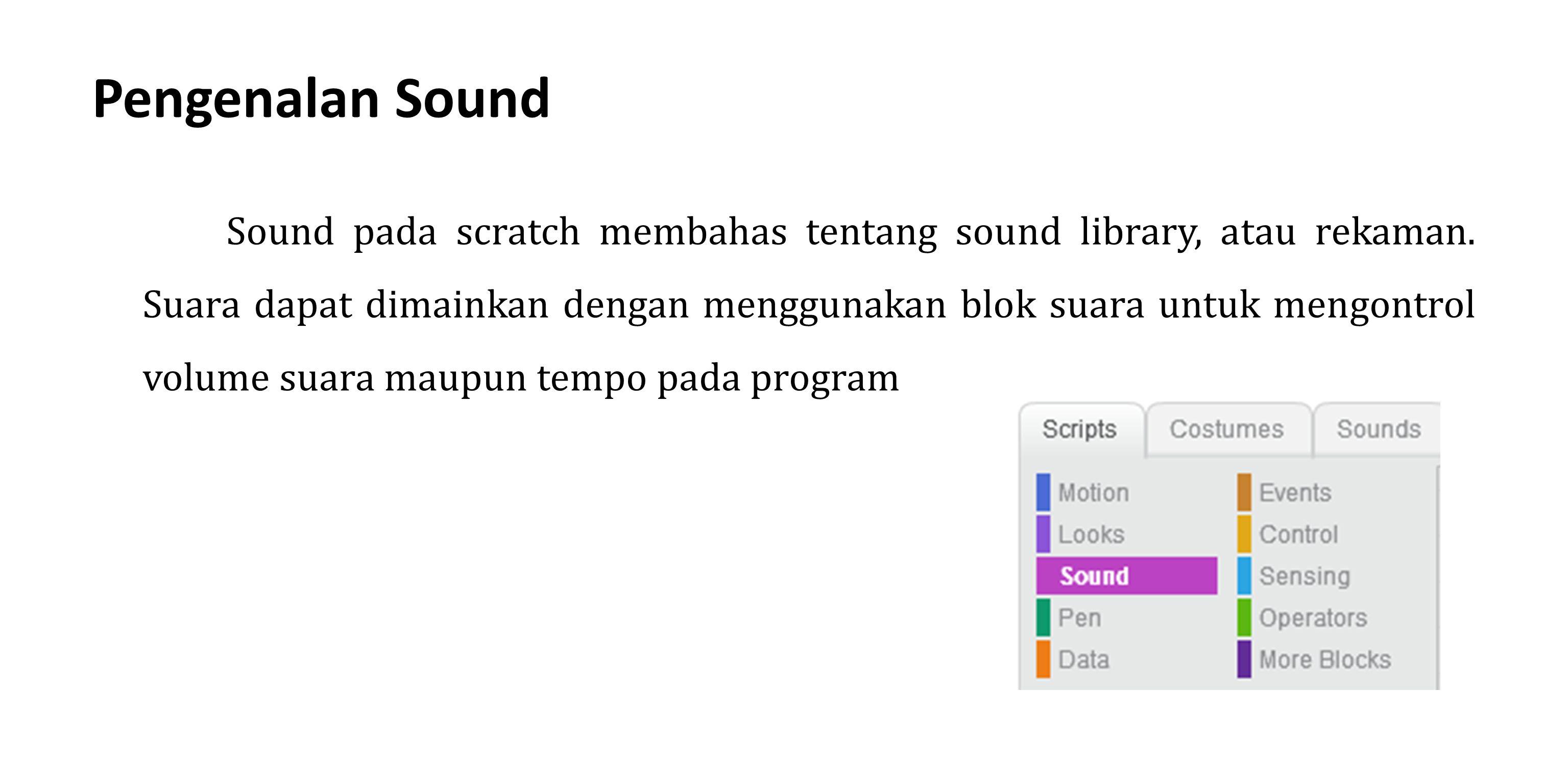 Pengenalan Sound