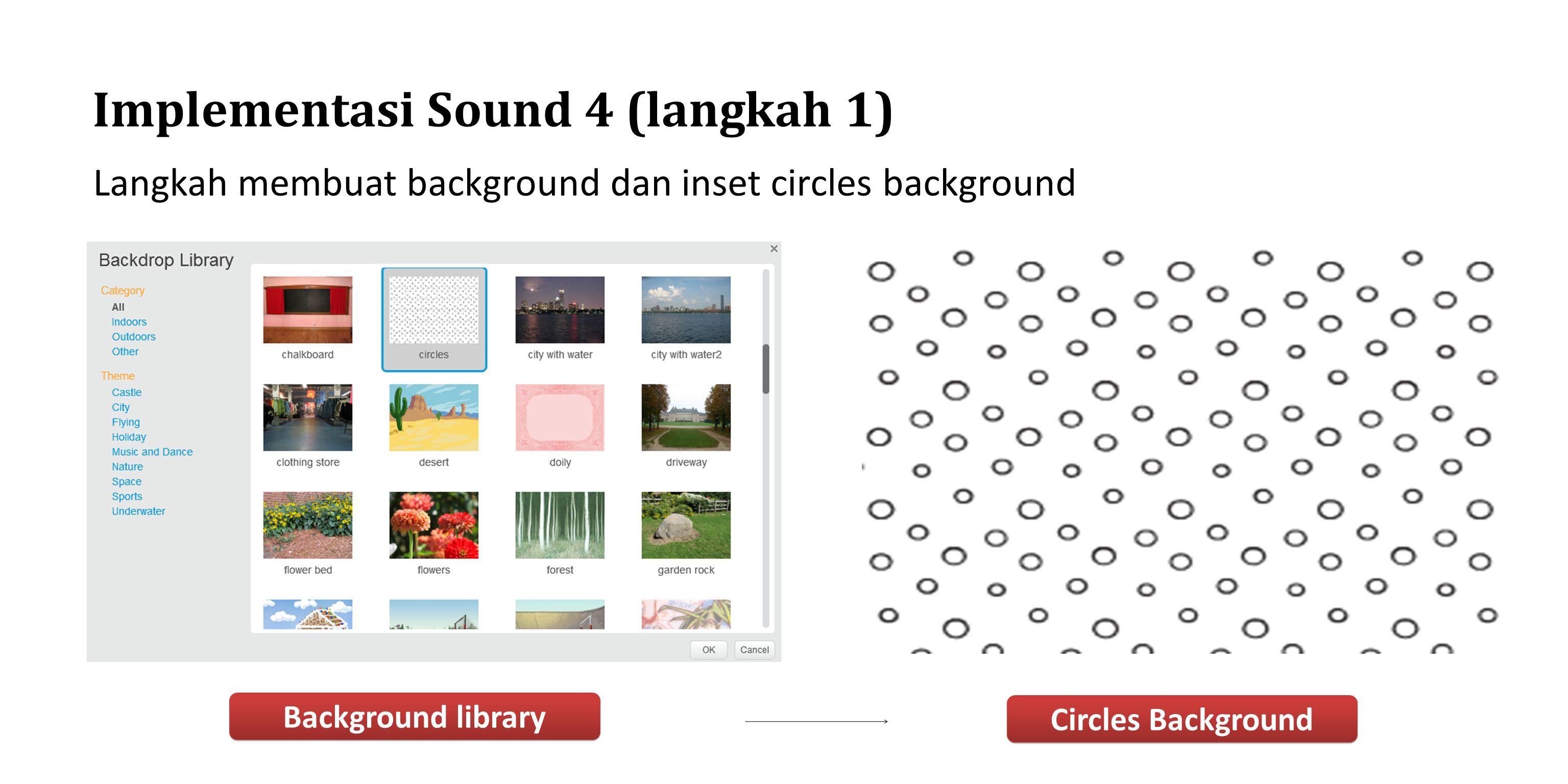 Implementasi Sound 4 (langkah 1)