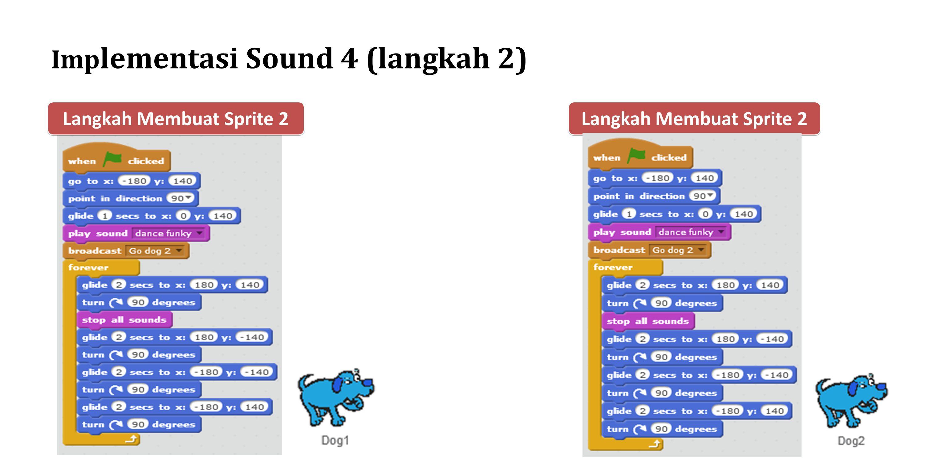Implementasi Sound 4 (langkah 2)