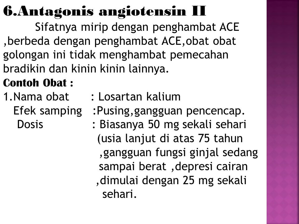 6.Antagonis angiotensin II