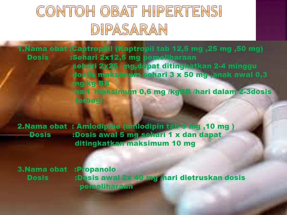 Contoh obat hipertensi dipasaran