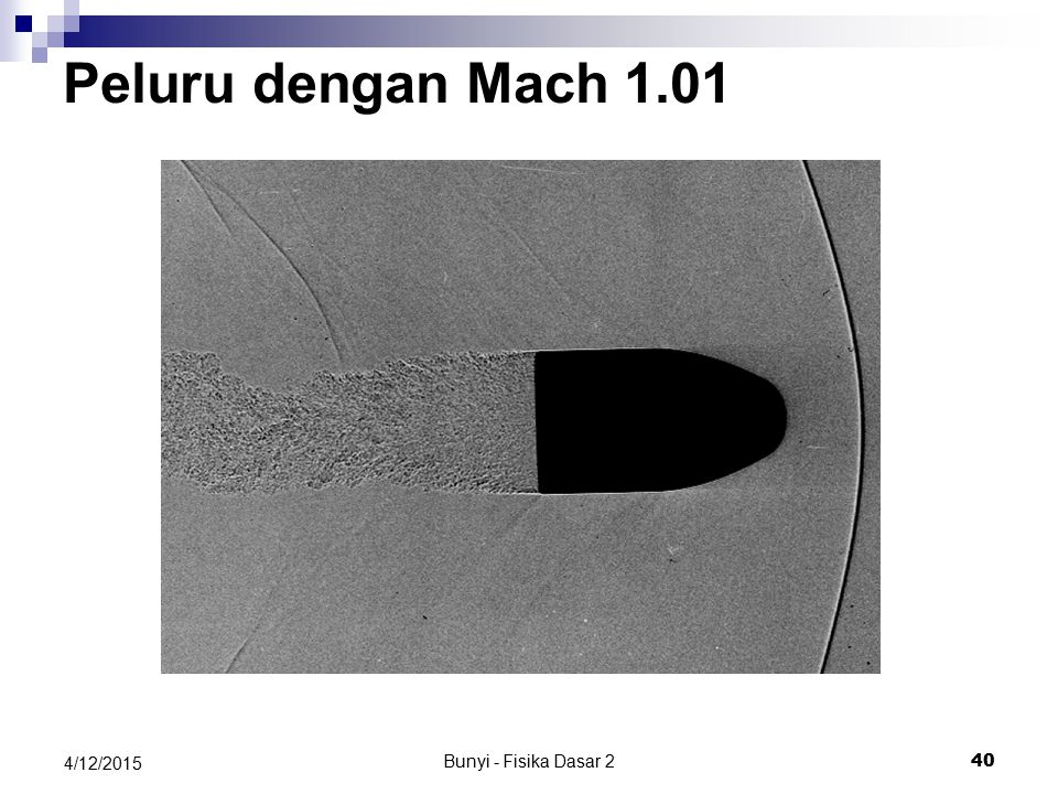 Peluru dengan Mach 1.01 4/11/2017 Bunyi - Fisika Dasar 2