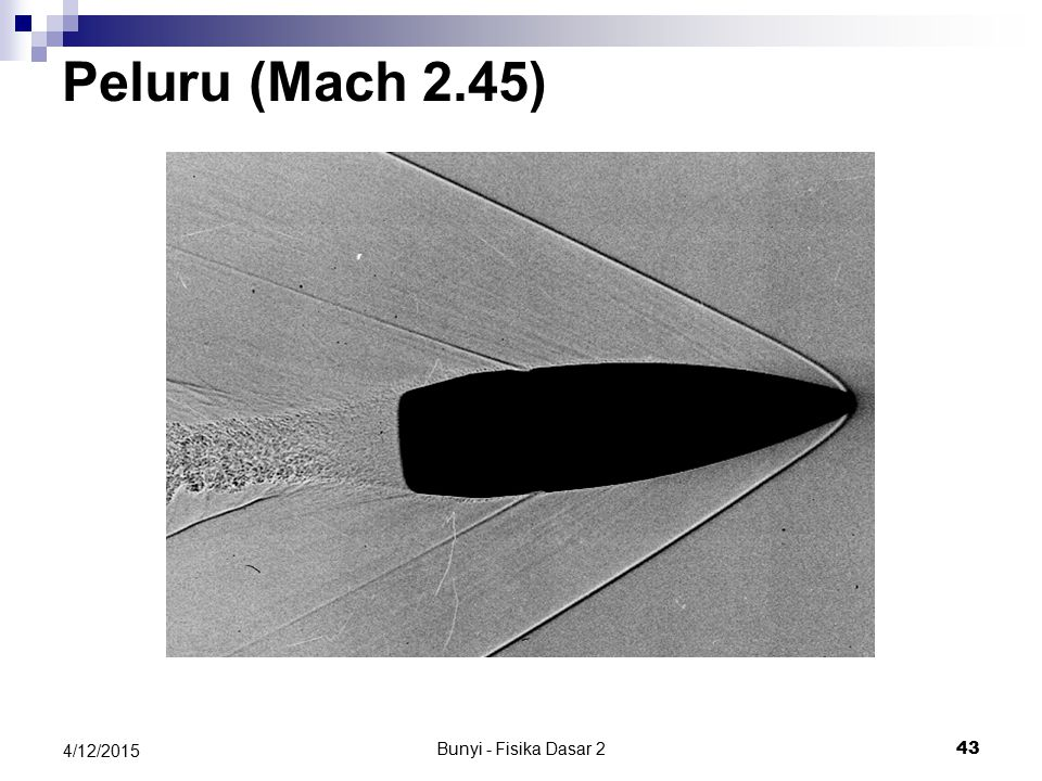 Peluru (Mach 2.45) 4/11/2017 Bunyi - Fisika Dasar 2