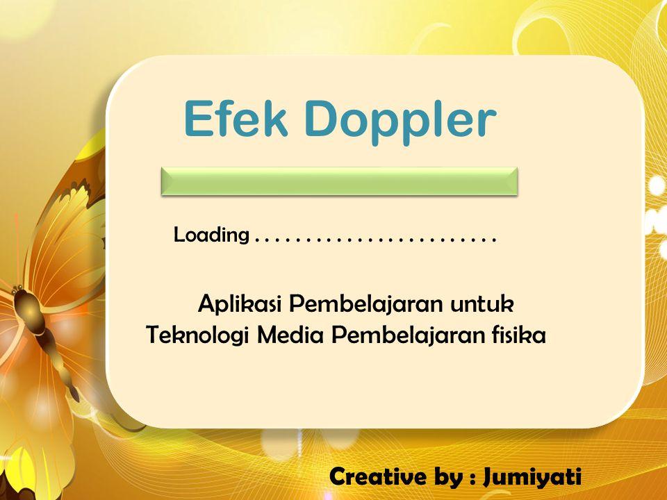 Efek Doppler Loading . . . . . . . . . . . . . . . . . . . . . . . . Aplikasi Pembelajaran untuk Teknologi Media Pembelajaran fisika.