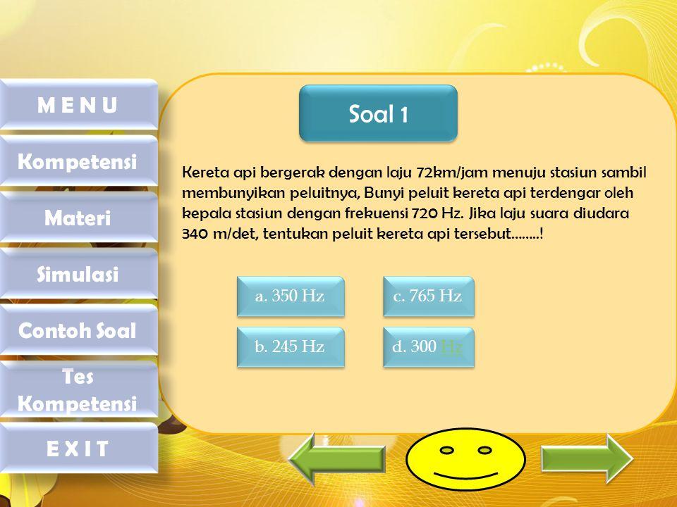 Soal 1 M E N U Kompetensi Materi Simulasi Contoh Soal Tes Kompetensi