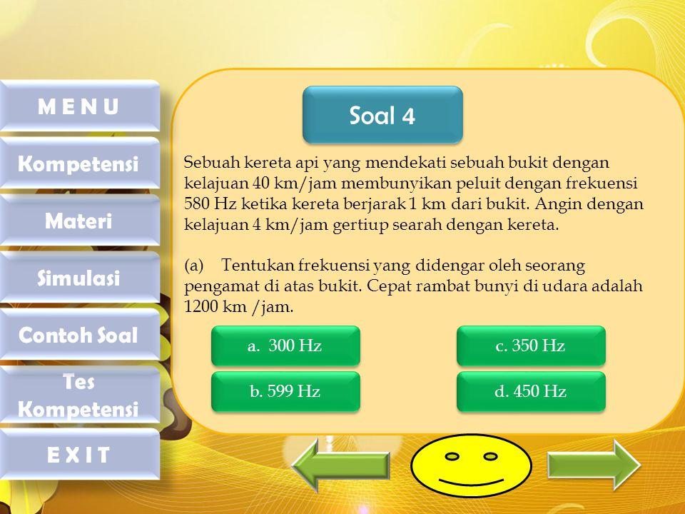 Soal 4 M E N U Kompetensi Materi Simulasi Contoh Soal Tes Kompetensi